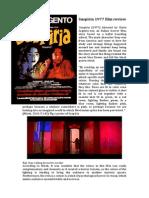 Suspiria 1977 Film Review