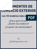 Documentos de Comercio Internacional más importantes