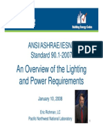 Overview of the Lighting and Power Requirements