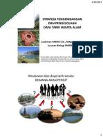 Strategi Pengembangan Dan Pengelolaan Daya Tarik Wisata Alam