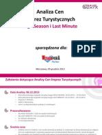 Analiza Cen Imprez Turystycznych (09.12.13)