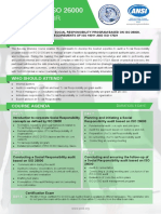 Certified ISO 26000 Lead Auditor -Two Page Brochure