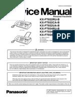 Service Manual KX-FT932