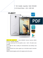 CUBOT ONE 4.7 IPS Pantalla Capacitiva Táctil MTK6589 4-Core Android 4.2 3G Smart Phone + GPS + 8MP CAM-Tinydeal