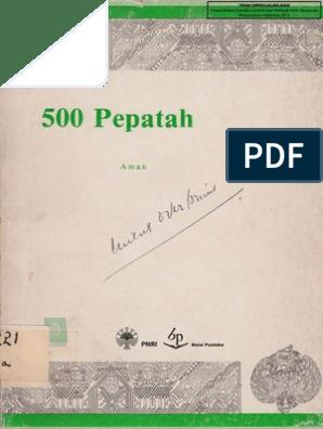 500 Pepatah Melayu