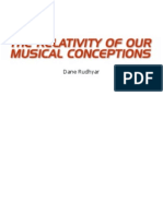 Dane Rudhyar - The Relativity of Our Musical Conceptions
