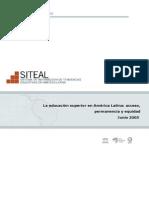 La Educacion Superior en a. Latina Acceso, Permanencia y Equidad UNESCO 2005