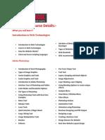 Web Design Training Course Details