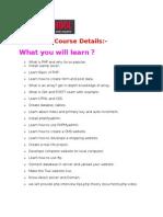 Php MysqlTraining Course Details