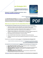 Global ManuChem Strategies 2014 Preview