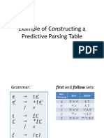 Parse Table