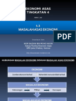 Masalah Asas Ekonomi