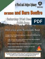 Brown Wood Dec Event Poster