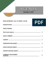Agenda Summary 12-10-2013
