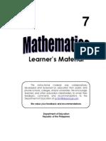 Gr. 7 Math LM (Q1 to 4)