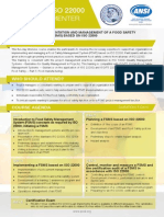 Certified ISO 22000 Lead Implementer -Two Page Brochure