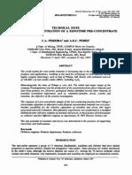 ARTIGO Flotation Concentration Xenotime