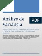 Análise de Variância e planeamentos experimentais (2)
