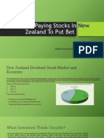 Dividend paying stocks in New Zealand to Put the Bet On