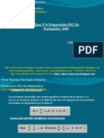Presentación N°5 PSU De Matemática - Números Racionales, Reales y Raices