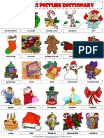 Christmas Picture Dictionary Worksheet