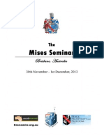2013 Mises Seminar Programme