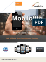 Mobiloitte ! Enterprise Mobile & Web Solutions Corporate Overview