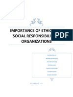 the importance of ethics and social responsibility in an organization