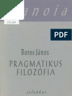 Boros Janos Pragmatikus Filozofia