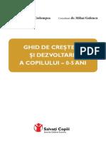 GHID DE CREŞTERE ŞI DEZVOLTARE A COPILULUI – 0-5 ANI