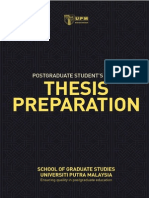 Guide to Thesis Preparation (Ver. 2013)