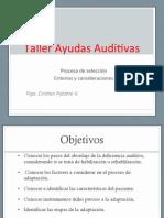 Taller Ayudas Auditivas Modulo 6 Proceso de Seleccion 2013