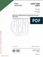 ABNT NBR 15953-2011 - Pavimento intertravado com peças de concreto - Execução