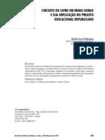 CIRCUITO DO LIVRO EM MINAS GERAIS E SUA IMPLICAÇÃO NO PROJETO EDUCACIONAL REPUBLICANO