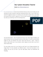 Star System Simulation Flash Tutorial