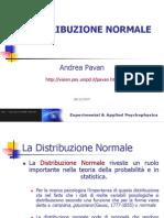 Andrea Pavan-Distribuzione Normale (slides)
