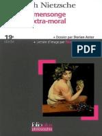 Nietzsche, Friedrich Wilhelm - Vérité et mensonge du sens extra-moral