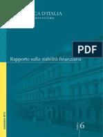 Rapporto Sulla Stabilita' Finanziaria. Banca d'Italia, Novembre 2013