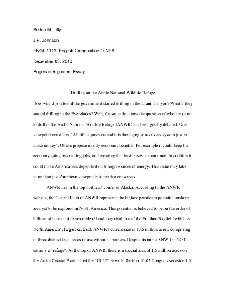 english comp rogerian argument paper bp petroleum