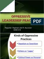 Oppressive Leadership Practices