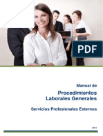 Manual de Procedimientos Laborales Grales. Convenio de Consultoria