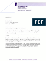 ABL letter to Menard, Director General of Quebec Ministry of Natural Resources