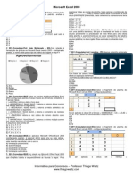 Questões - Microsoft Excel 2003
