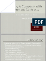 Government Contract Acquisitions Deck
