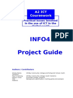 INFO4 Coursework Guide 2012-13