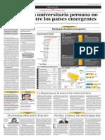 La educación universitaria peruana no destaca ni entre los países emergentes
