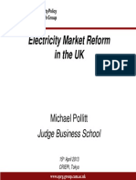 Electricity Market Reform Japan