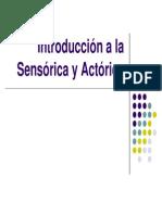 2da. semana. Introducción  a la sensorica y actorica