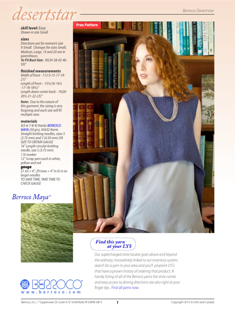 Berroco FreePattern Desertstar-R | Knitting | Crochet