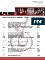 Village Theater at Cherry Hill -- Season at a Glance, 2014